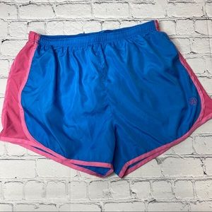 Lauren James Athletic Shorts Blue Pink Size Large